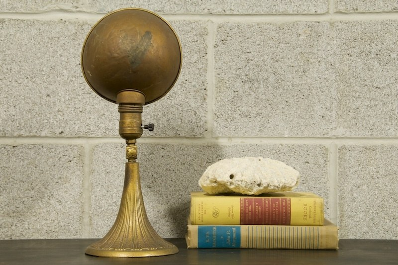 1920s Post Masters Brass Desk Lamp Factory 20