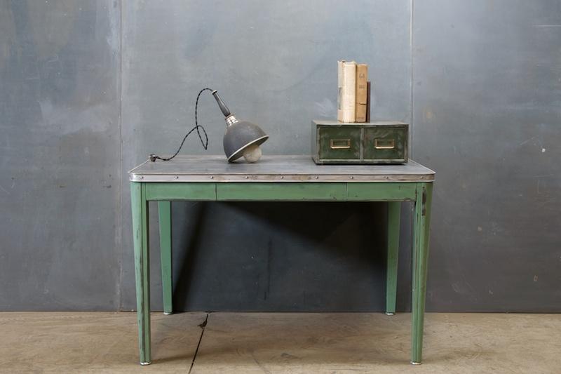 Vintage Industrial Steel Laboratory Table Factory 20