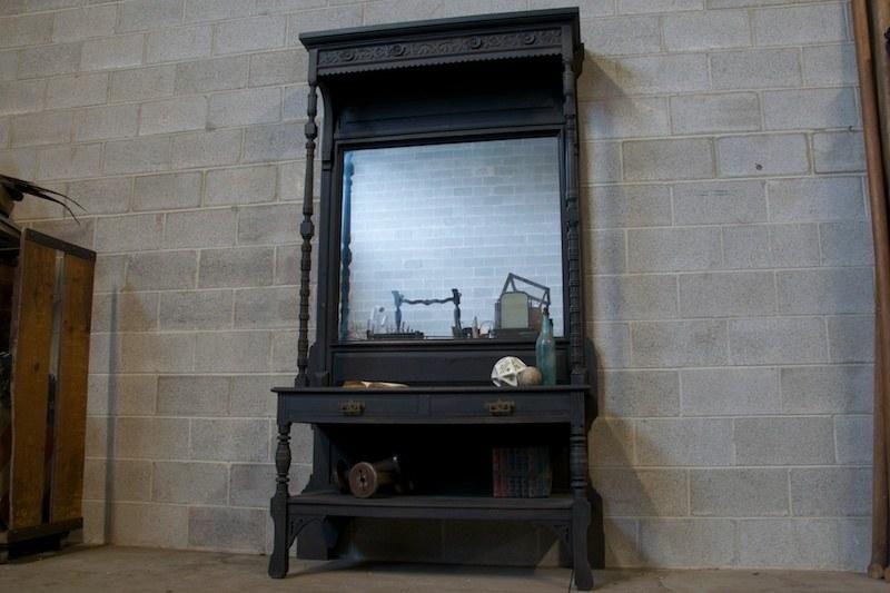 Victorian Eastlake Pier Mirror Cabinet Factory 20