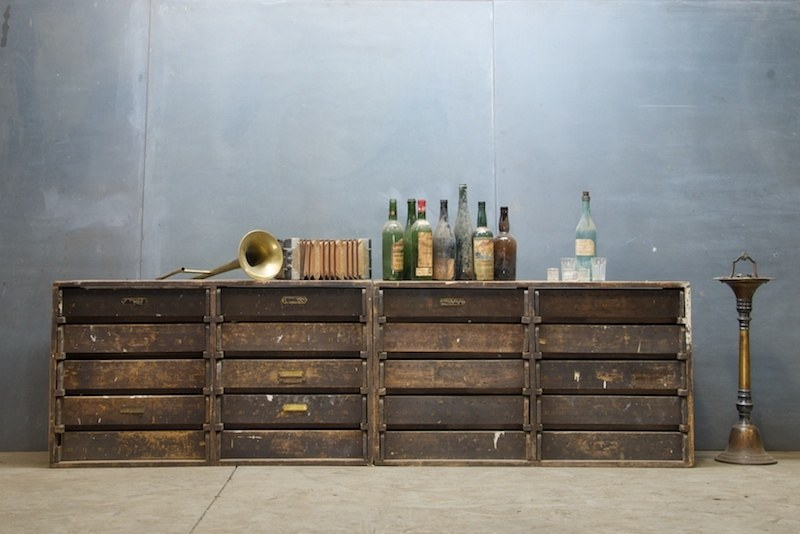 Old Amish Primitive Storage Cabinets : Factory 20