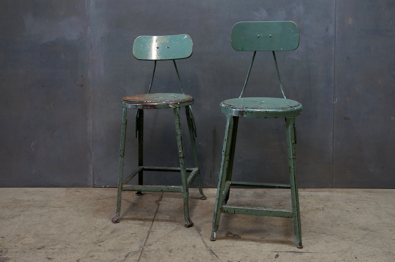 antique bar stools industrial green metal drafting stools factory 20 1256