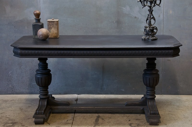Louis Philippe Scroll Leg Console Table Factory 20