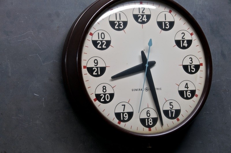 Vintage Military Recruitment Office Clock Factory 20