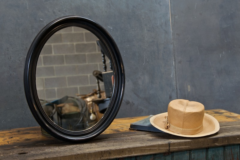 Antique Oval Jeffersonian Portrait Mirror Factory 20