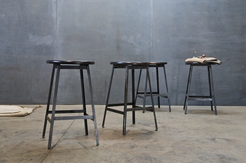 & Magothy Maple Vintage Industrial Stools : Factory 20 islam-shia.org