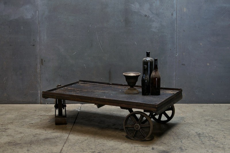 vintage industrial cart coffee table : factory 20
