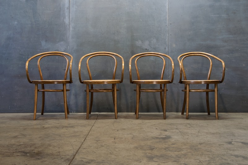 Old Bentwood And Cane NYC Cafe Chairs Factory 20