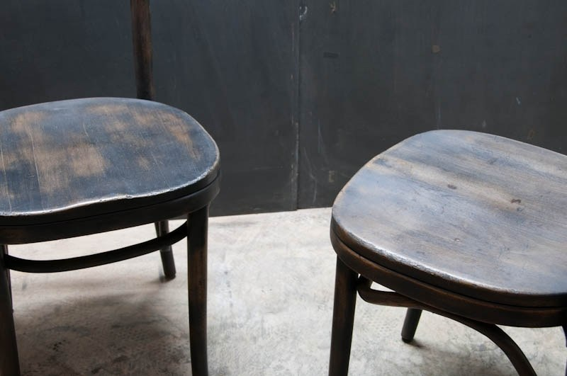 Austrian Thonet Bentwood Cafe Chairs Factory 20