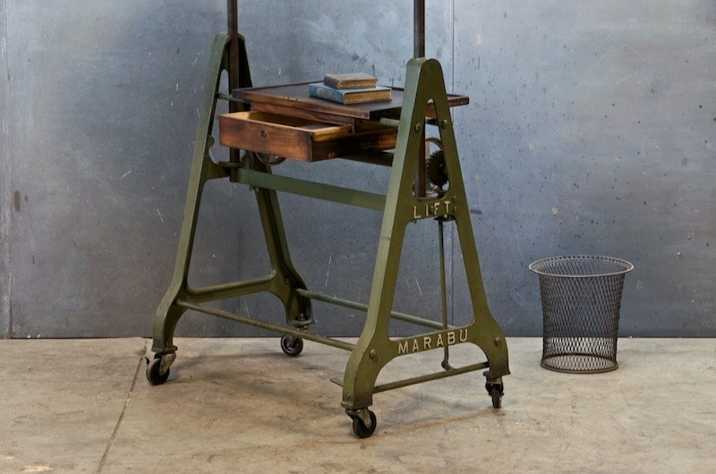 1930s German Design Drafting Table Factory 20
