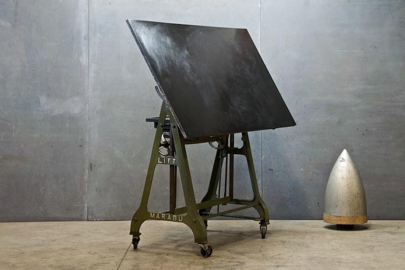 1930s German Design Drafting Table Factory 20