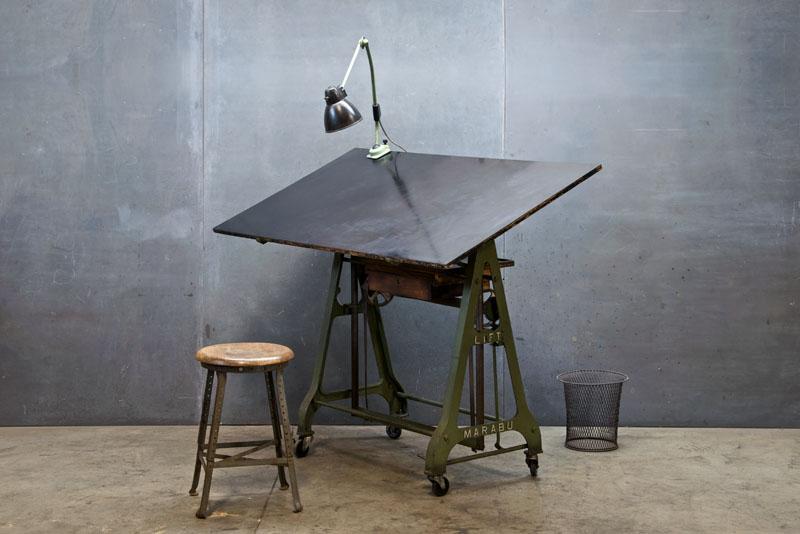 1930s german design drafting table factory 20 - Mesa de dibujo tecnico ...