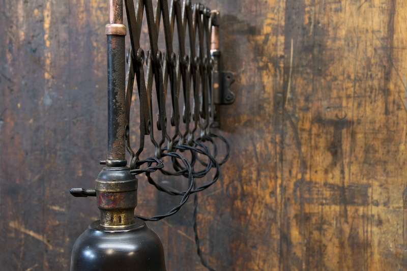 Vintage Industrial Accordion Wall Lamp : Factory 20