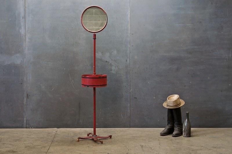 Victorian Barbershop Stand Floor Mirror : Factory 20