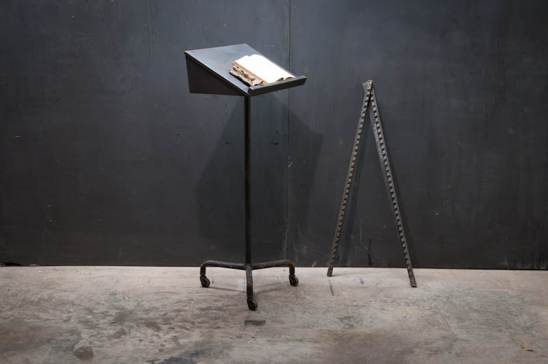 Vintage Industrial Lectern Podium : Factory 20