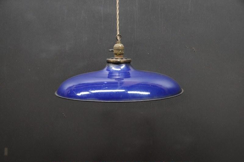 vintage blue porcelain pendant light   factory 20