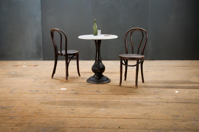Vintage augustan cast iron cafe table factory 20