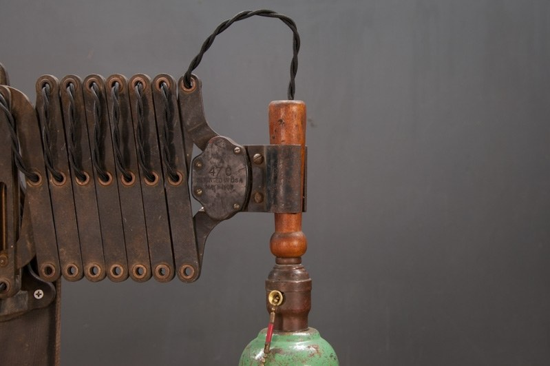 Wall Mounted Accordion Lamps : Vintage Industrial Accordion Task Light : Factory 20