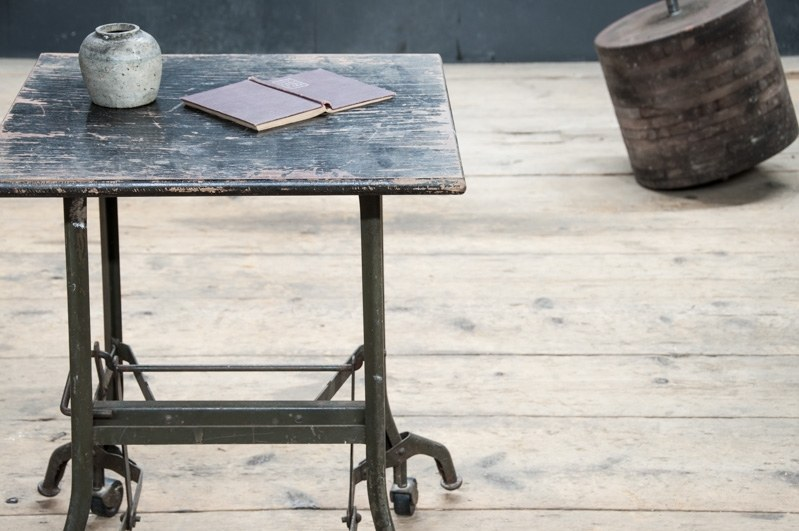 Vintage Industrial Tailors Task Table Factory 20