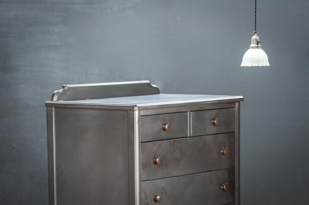 Vintage steel norman bel geddes bureau cabinet factory 20 - Bureau vintage industriel ...