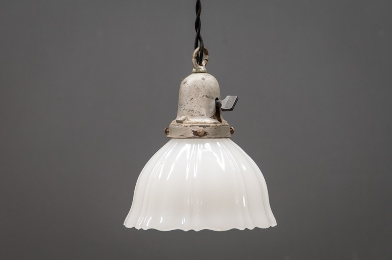 flared milk glass bell pendant lights factory 20