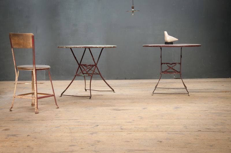 Vintage french bistro cafe jardin tables factory 20 - Table jardin vintage montpellier ...