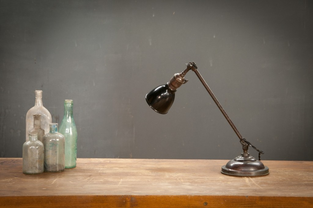 Vintage Elco Photo Lab Bronze Desk Lamp Factory 20
