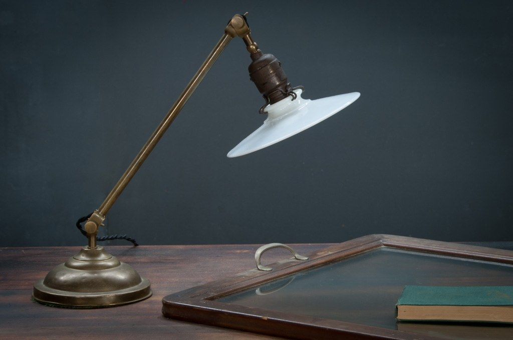 Vintage Haymarket Printhouse Desk Lamp Factory 20