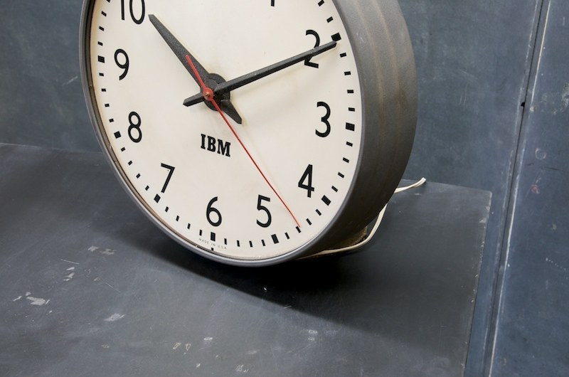 Vintage Ibm Office Wall Clock Factory 20