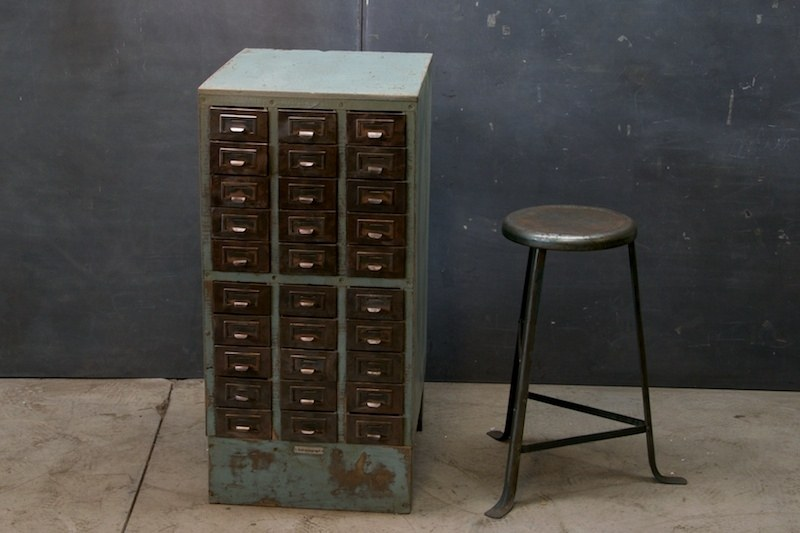 Vintage Industrial Machinist Cabinet : Factory 20