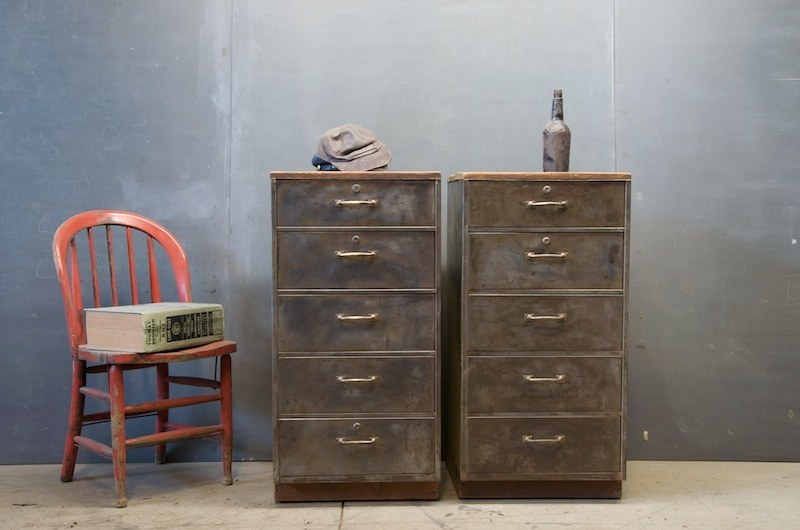 Tall Industrial Atelier Drawer Chests Factory 20