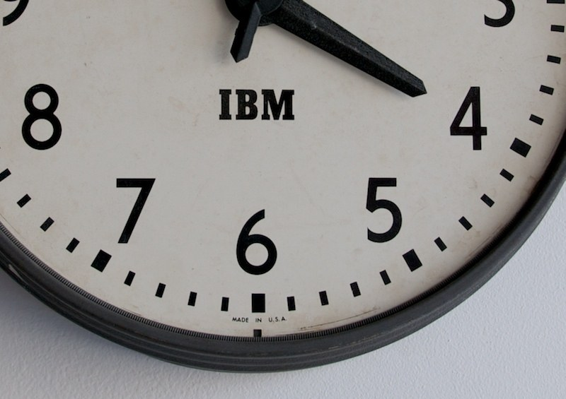 Vintage Industrial Metal Wall Clock : Factory 20