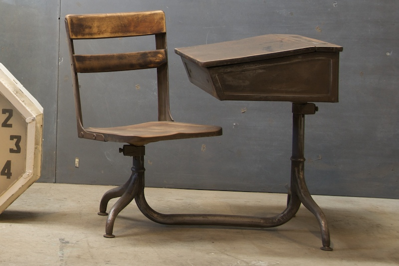 Vintage French Atelier School Desk Factory 20