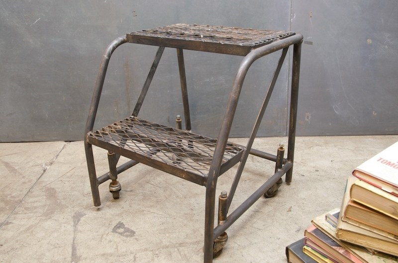 Awesome Vintage Industrial Library Steps Ladder Factory 20 Gmtry Best Dining Table And Chair Ideas Images Gmtryco